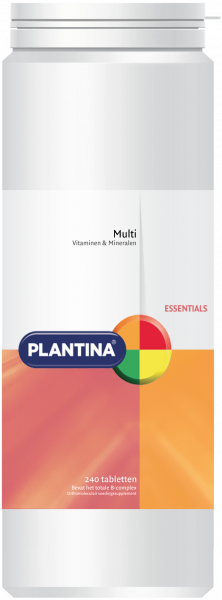 Plantina Multivitaminen en Mineralen 240 tabletten