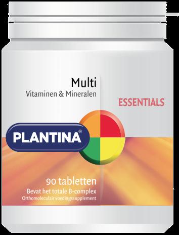 Plantina Multivitaminen en Mineralen 90 tabletten