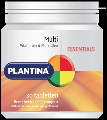 Plantina Multivitaminen en Mineralen 30 tabletten