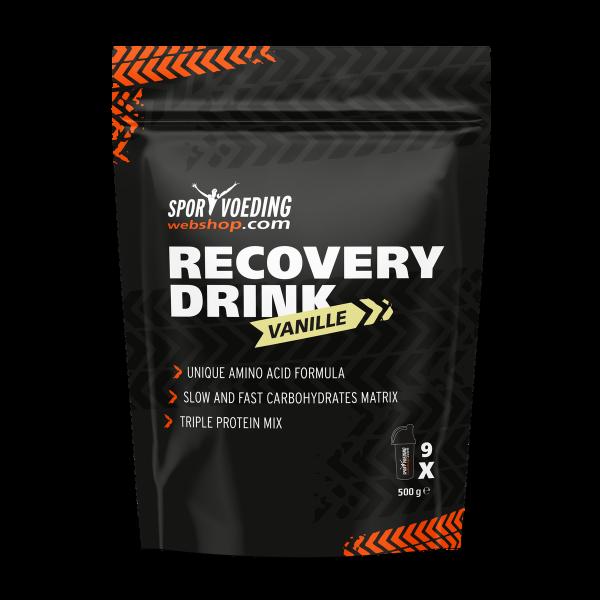 SportvoedingWebshop Recovery Drink 500 gram navulverpakking